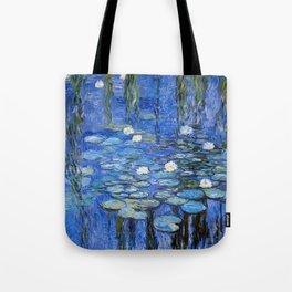 waterlilies a la Monet Tote Bag