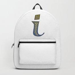 Celtic Knotwork Alphabet - Letter I Backpack