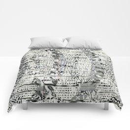 The Eternal Return of the Unique Event (P/D3 Glitch Collage Studies) Comforters