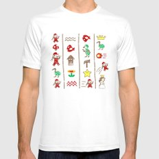 The Legend of Mario MEDIUM White Mens Fitted Tee