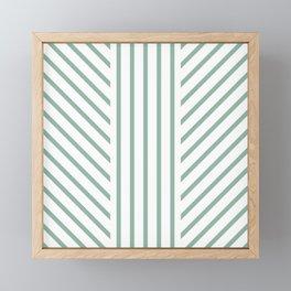 Lined Wintergreen Framed Mini Art Print