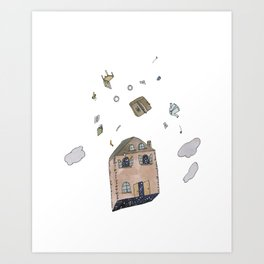 Down Can Look Like Up Art Print