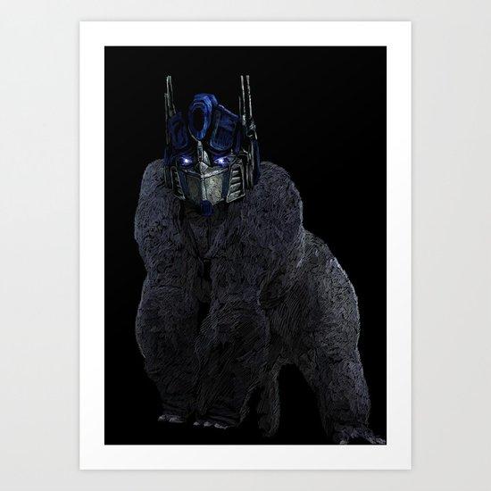 Optimus Primate Art Print