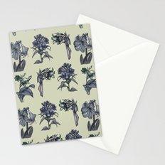 Botanical Florals | Vintage Dark Blue Stationery Cards