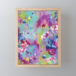 The Simple Things - Abstract Floral Painting Framed Mini Art Print