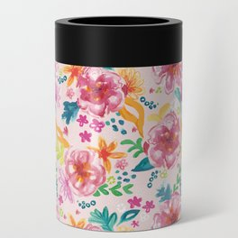 Pink Watercolor Delight Can Cooler