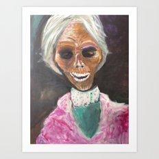 Mrs Bates  Art Print