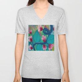 Pretty Flowers on a Fat Vine Unisex V-Neck