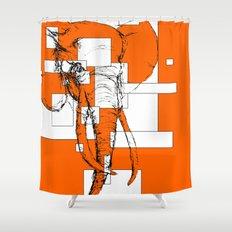 Orange is the New Elephant Shower Curtain