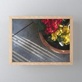 Flowers and Stripes Framed Mini Art Print