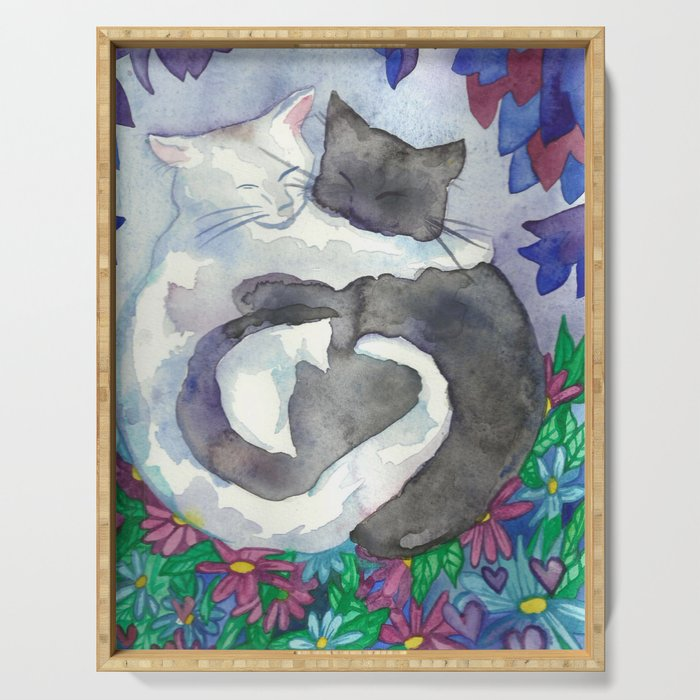 Cats With Soft Hearts Serving Tray