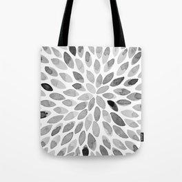 Watercolor brush strokes - black and white Tote Bag