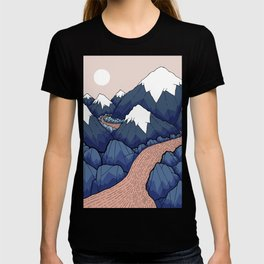 The twisting river in the mountains T-shirt