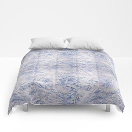 Blue chipboard texture abstract Comforters