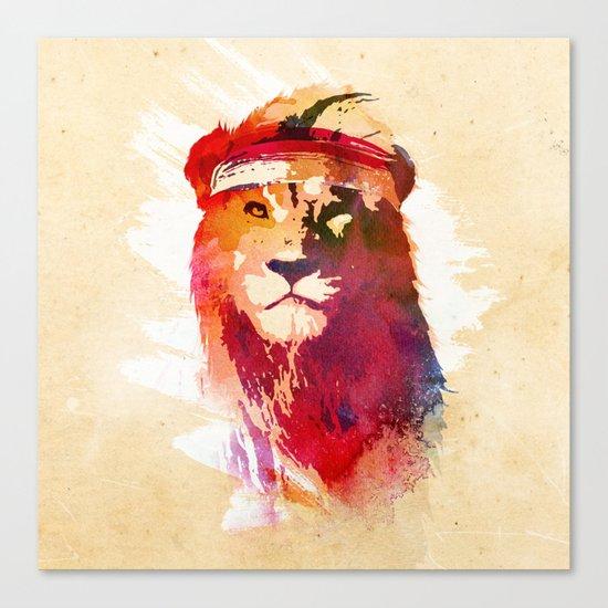 Gym Lion Canvas Print