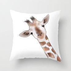 Gustaf Giraffe Throw Pillow