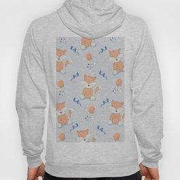 Happy Birthday Orange Fox Light Grey Background Pattern Hoody