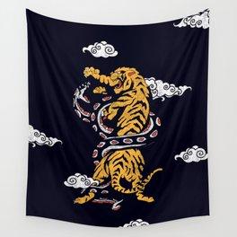 Tiger vs Snake Wall Tapestry