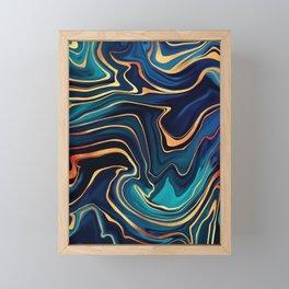Azurite Waves Framed Mini Art Print