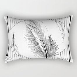 Seagulls with feathers - Ink artwork Rectangular Pillow