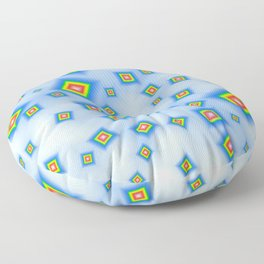 Pattern of disorganized multicolored paintings Floor Pillow