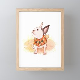 Holiday Frenchie Framed Mini Art Print