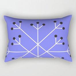 Mod Snowflake Purple Rectangular Pillow
