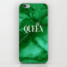 Queen Green Marble iPhone & iPod Skin