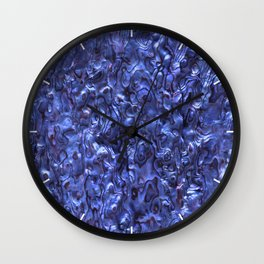 Abalone Shell | Paua Shell | Dark Blue Tint Wall Clock