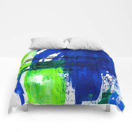 Teal Splendor No.1c by Kathy Morton Stanion Comforters
