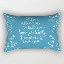 Jane Austen Pride and Prejudice Quote Rectangular Pillow