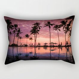 Paradise Sunset Tropical (Color) Rectangular Pillow
