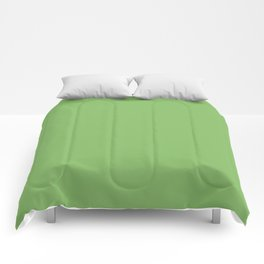 Bright Dollar Bill Green Color Comforters