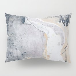 As Restless as the Sea: a minimal abstract painting by Alyssa Hamilton Art Pillow Sham