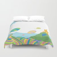 dr seuss Duvet Covers featuring oh the places you'll go .. dr seuss by studiomarshallarts