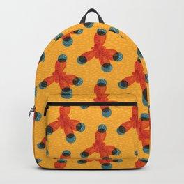 Orange Methane Molecule Backpack