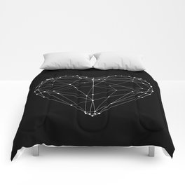 Polygon Love Heart modern black and white minimalist home room wall decor canvas Comforters