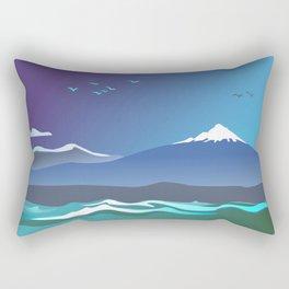 Mont Taranaki From The Sea Rectangular Pillow