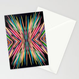Toothpick Fusion Abstract Pattern Stationery Cards