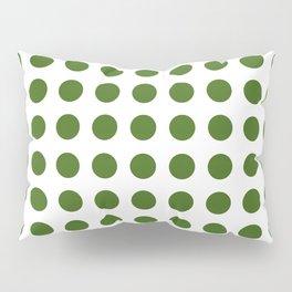 Simply Polka Dots in Jungle Green Pillow Sham