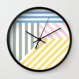 Summer stripes Wall Clock