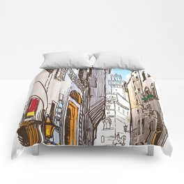Sketches from Italy - Florence Comforters