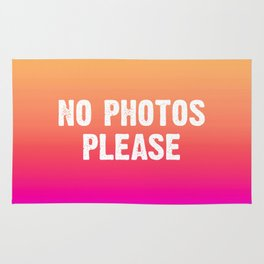 No Photos Please - Yellow Pink Blue Ombre Rug