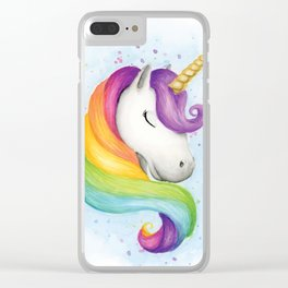 Rainbow Unicorn Clear iPhone Case