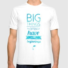 Big Things MEDIUM Mens Fitted Tee White