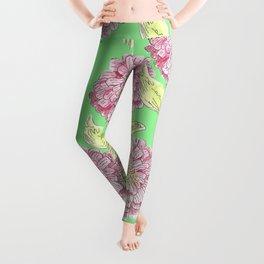 Zinnia Pattern Leggings