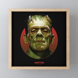 Frankenstein - Scary Movies Framed Mini Art Print