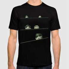 Hide and Seek Black MEDIUM Mens Fitted Tee