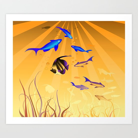 Under The Sea V2 Art Print