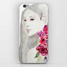 Face&flowers iPhone & iPod Skin